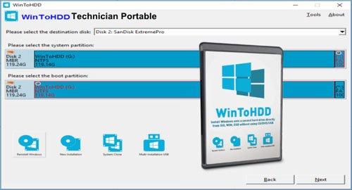 WinToHDD 5.2 Technician (x64) Multilingual Portable