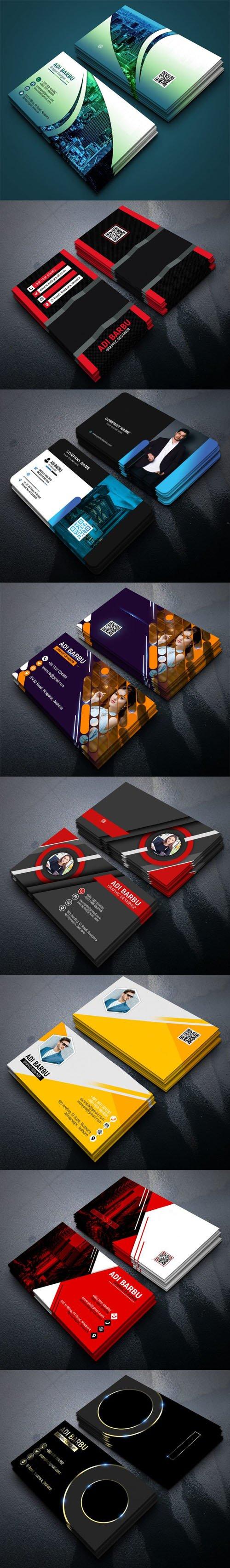 8 Creative Multipurpose Business Cards PSD Templates