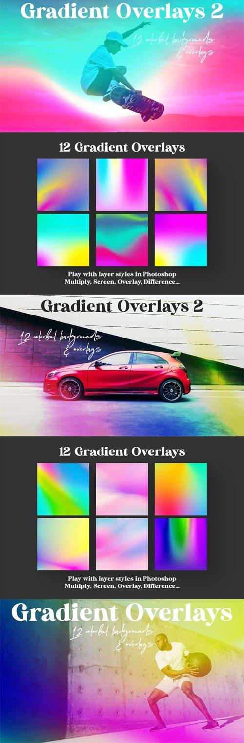 12 Color Gradient Overlays Vol.2