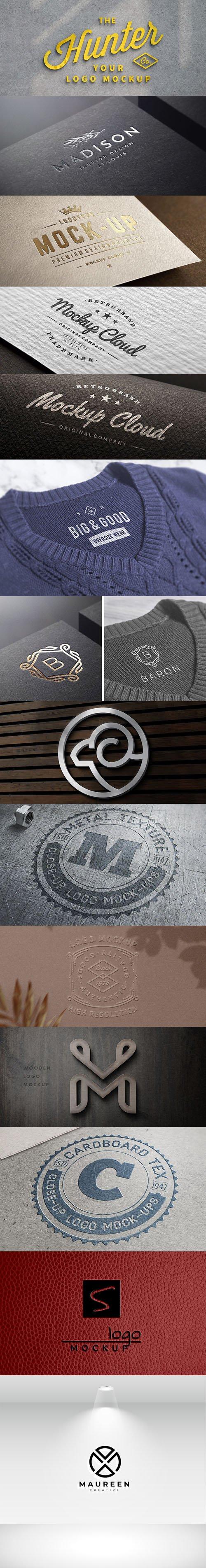 Awesome 9 Branding Logo PSD Mockups Templates