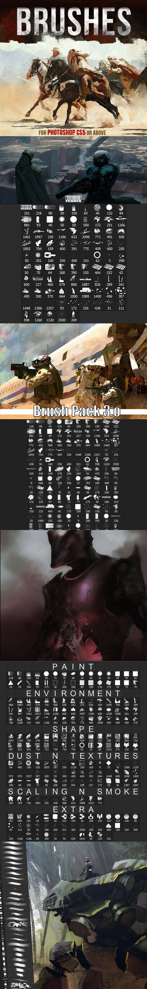 Huge Collection of Photoshop Brushes for Painting