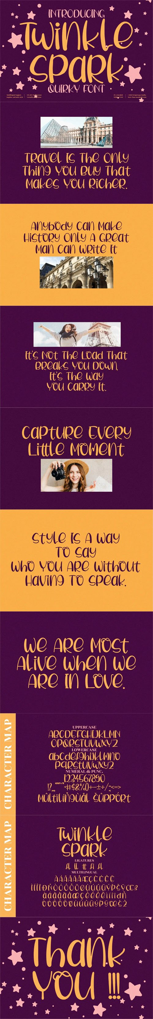 Twinkle Spark - Quirky Handwritten Font