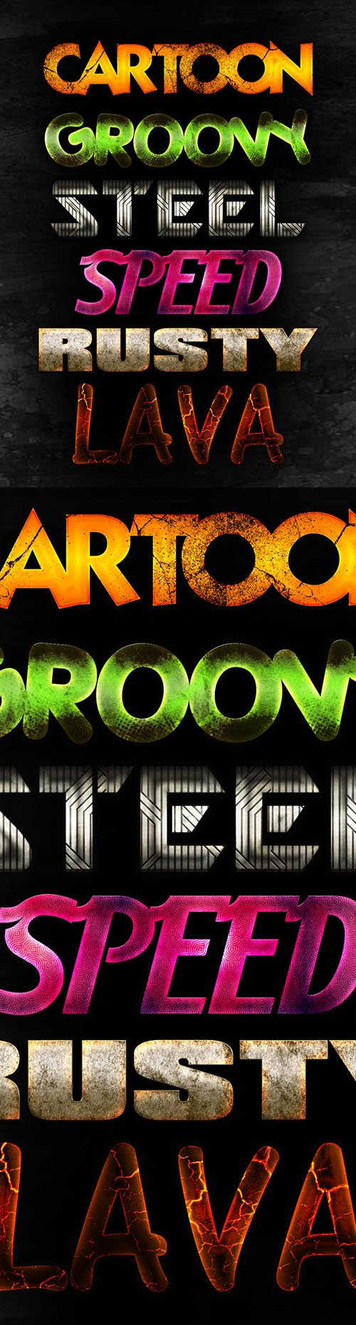6 Photoshop Text Effects