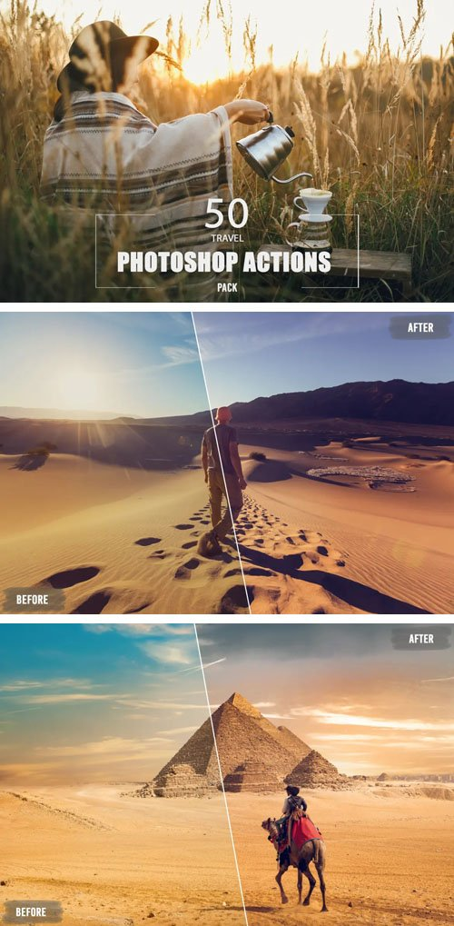 Travel Photoshop Actions Pack