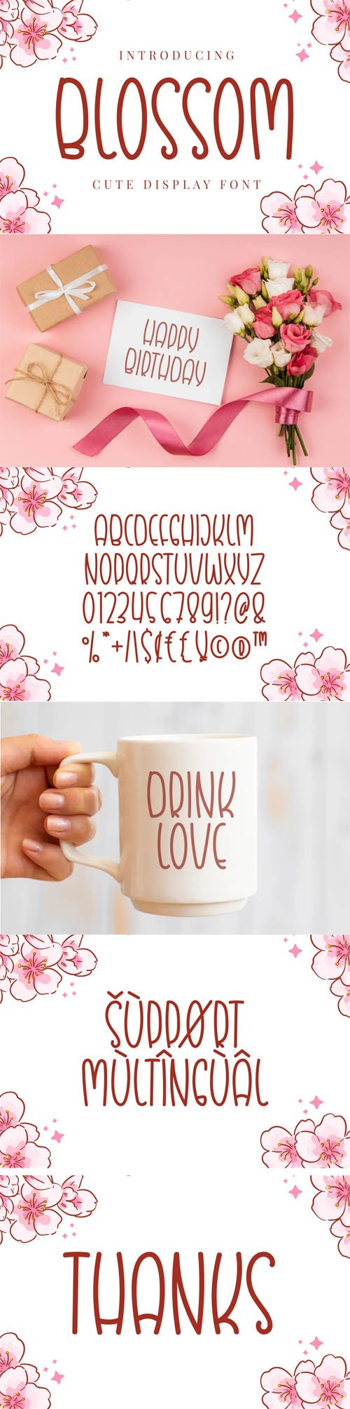 Blossom - Quirky & Cute Display Font