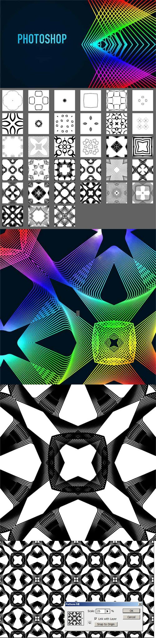 33 Spirograph Patterns for Photoshop