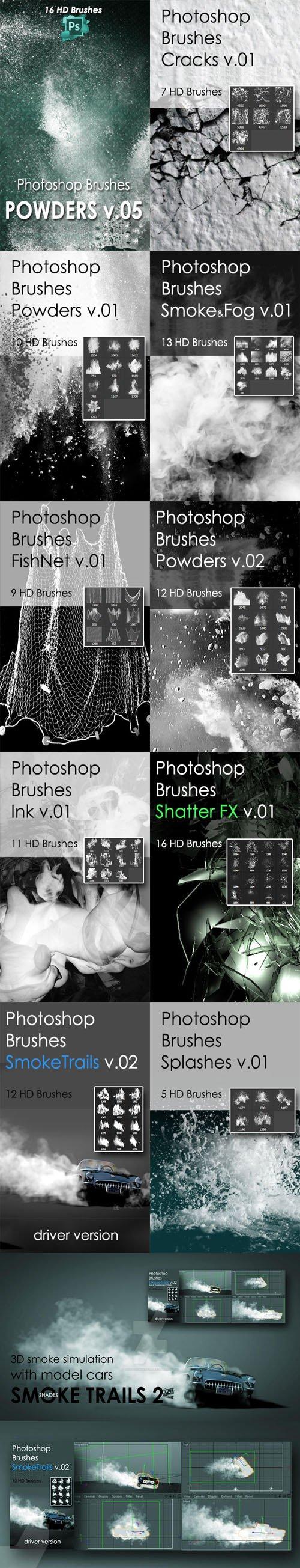 10 Awesome Photoshop Brushes Pack