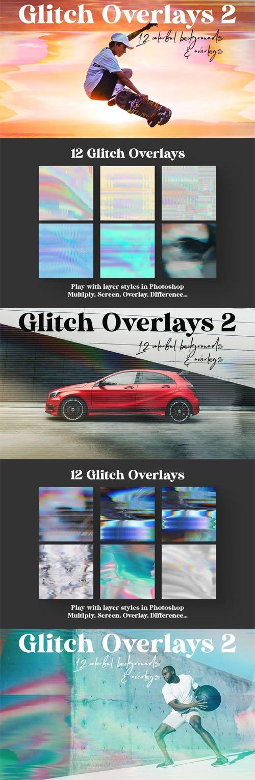 12 Glitch Overlays Vol.2