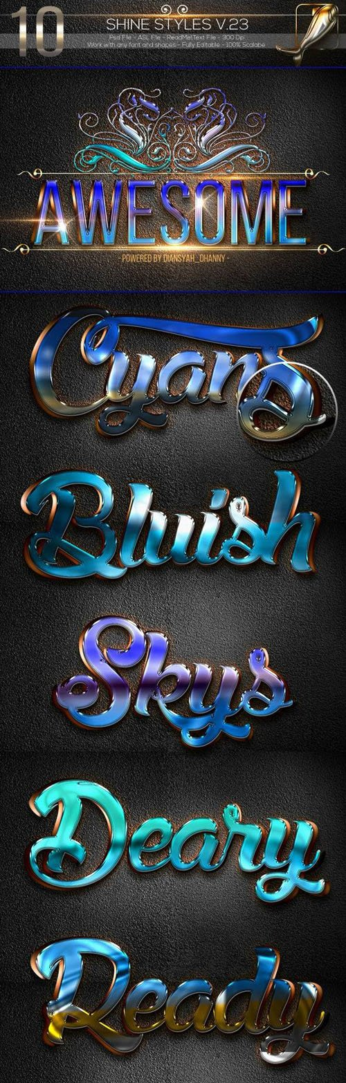 10 Awesome Shine Styles Collection for Photoshop