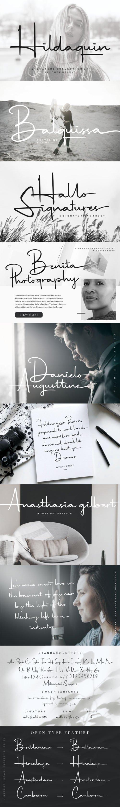 Hildaquin - Signature Handwritten Font