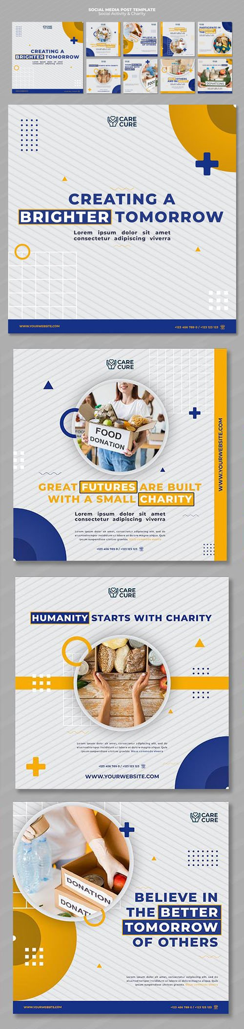 Charity & Social Activity Instagram Posts PSD Templates