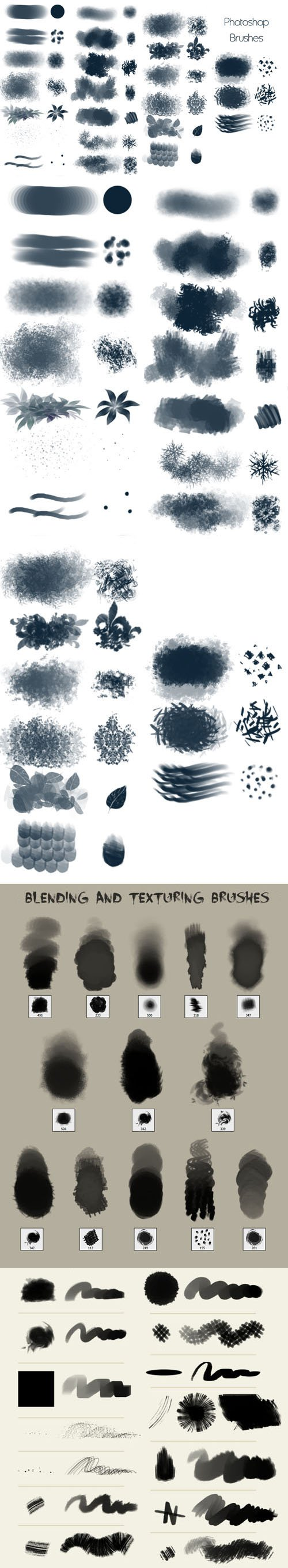 Blending & Texturing - 50 Photoshop Brushes Pack