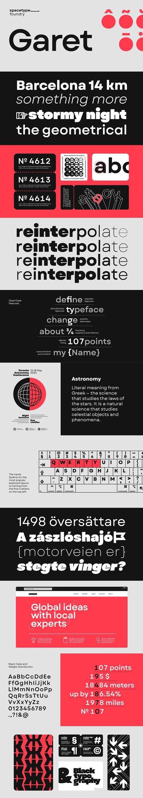 Garet Geometric Sans Serif Font Family