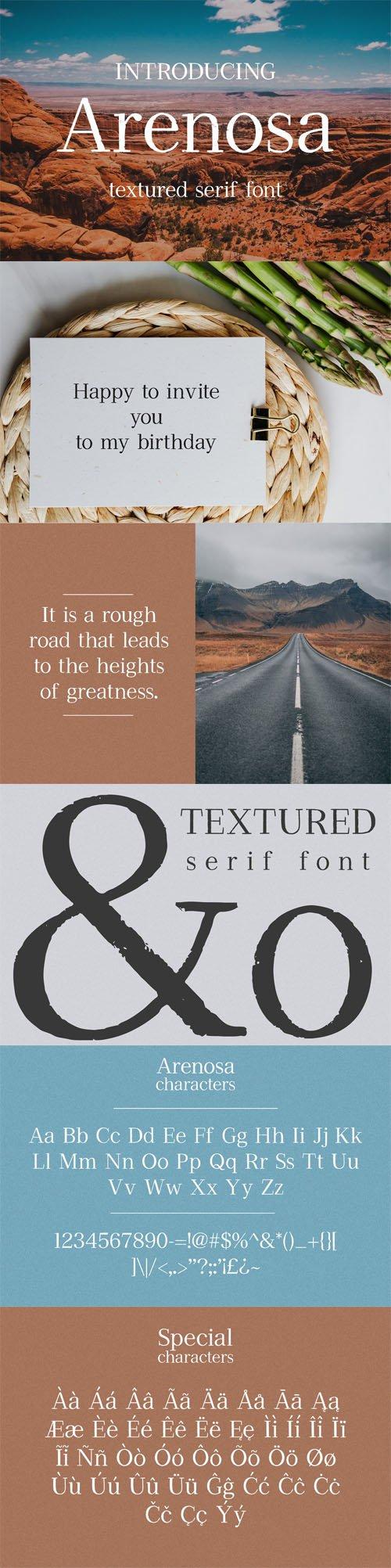 Arenosa - Textured Serif Font