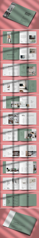 Hanabi Works - Interior Brochure Indesign Template [24-Pages]