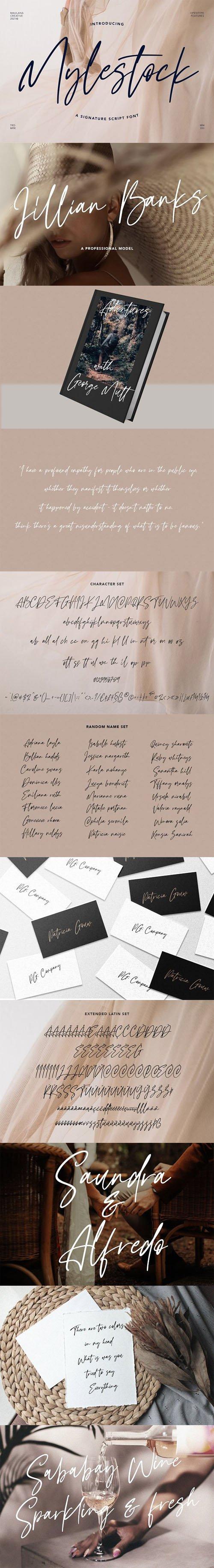 Mylestock Signature - Handwritten Script Font