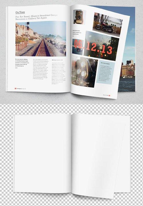 Realistic Magazine PSD MockUp Template