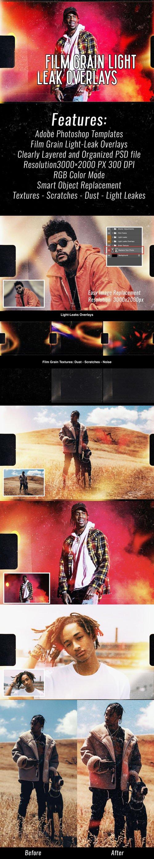 Film Grain - Light Leak Overlays PSD Templates