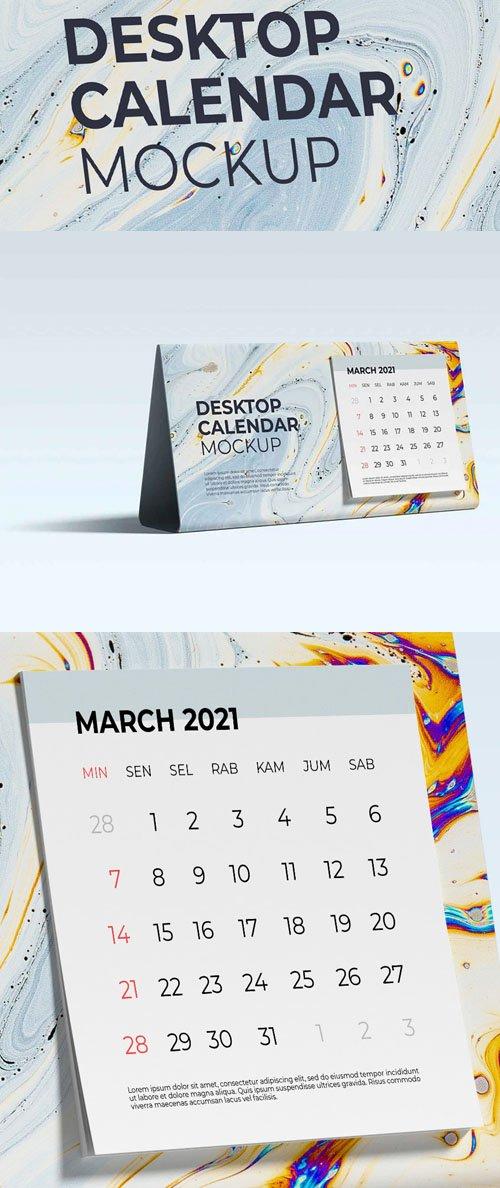 Desktop Calendar PSD Mockup Template