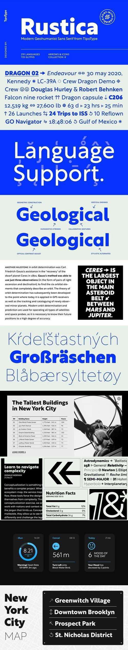 Rustica Sans Font Family