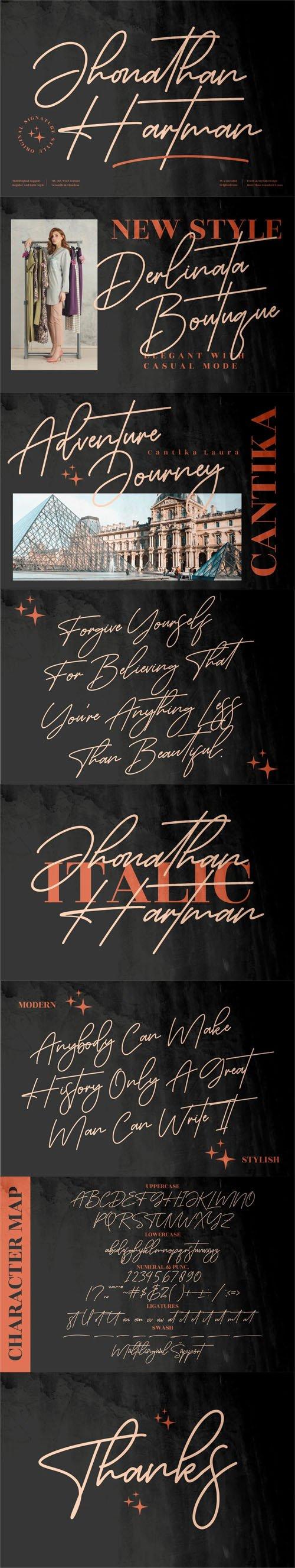 Jhonathan Hartman Script - Refined Signature Font