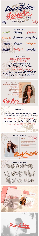 Powerfulm Samara - Modern Brush Script Font