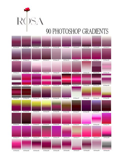 90 Photoshop Gradients Collection