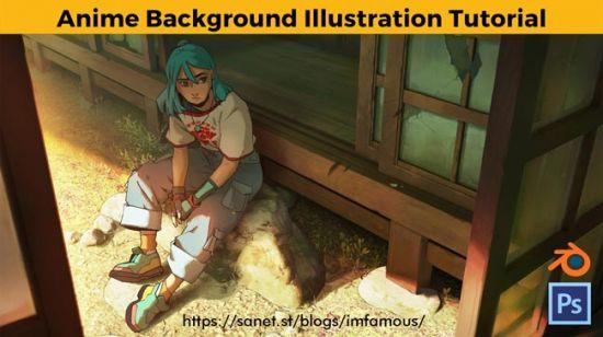 ArtStation   Anime Background Illustration Tutorial by Jose Vega