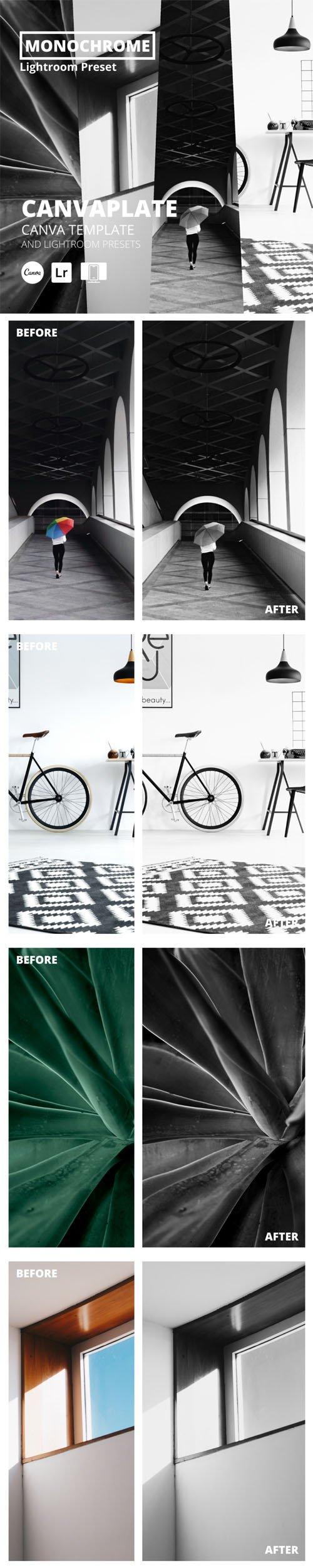 10 Monochrome Mobile & Desktop Lightroom Presets