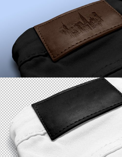 Leather Label PSD Mockup Template