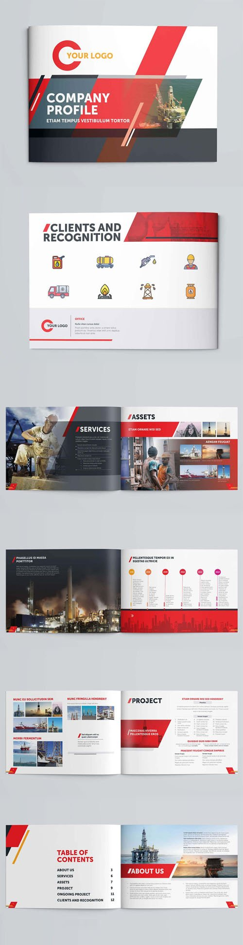 Industrial Company Profile Booklet Indesign Template