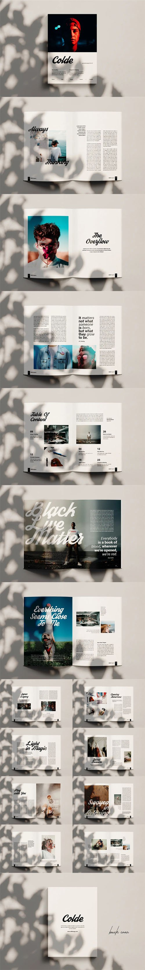 Colde - Fashion Magazine Indesign Template [A4/US Letter]
