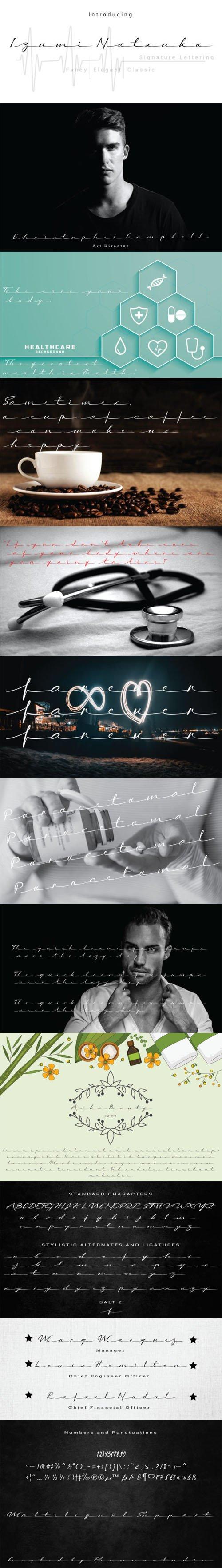Izumi Natsuka Script - Signature Lettering Font