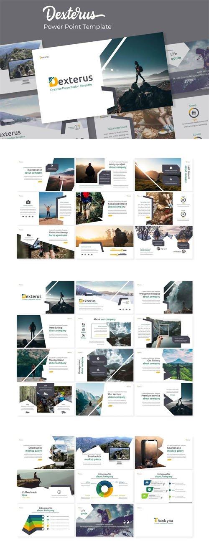 Dexterus - 5 Creative Powerpoint Templates