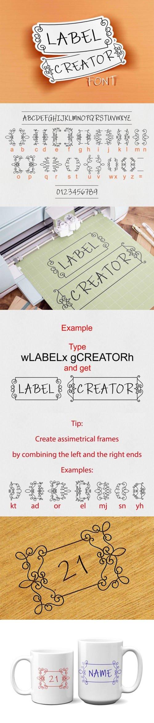 Label Creator - Elegant Decorative Font