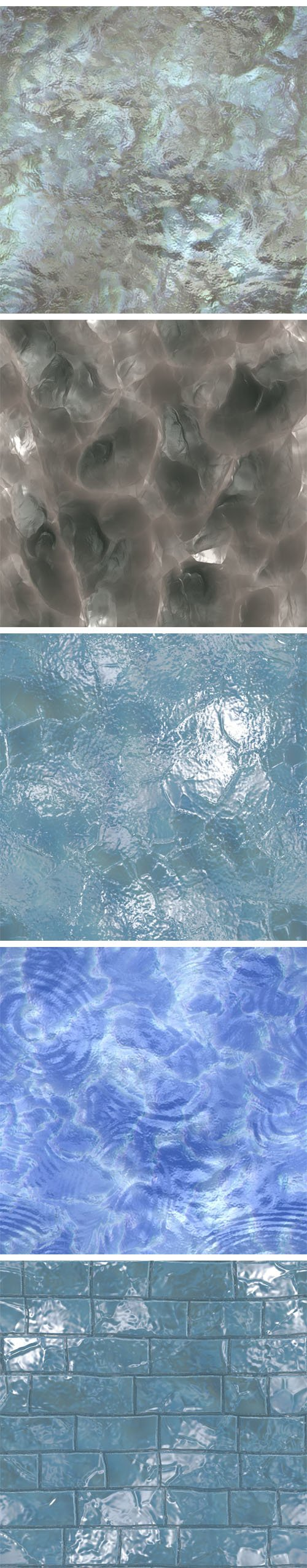 Water and Ice - 10 Seamless Textures