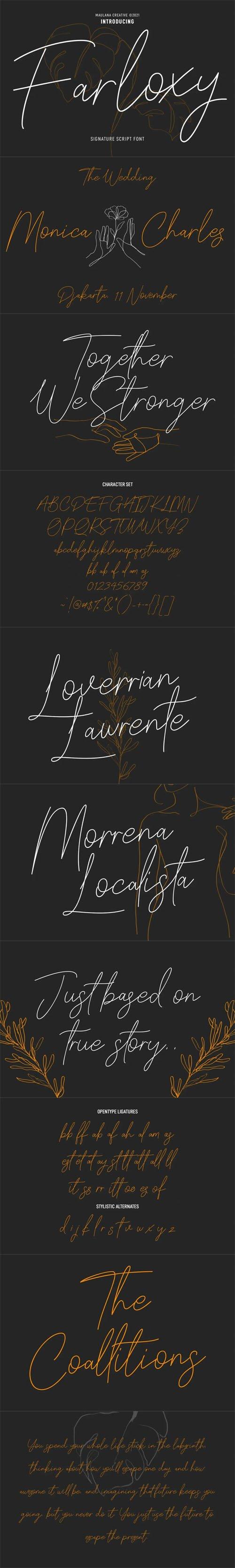 Farloxy Casual Signature Script Font