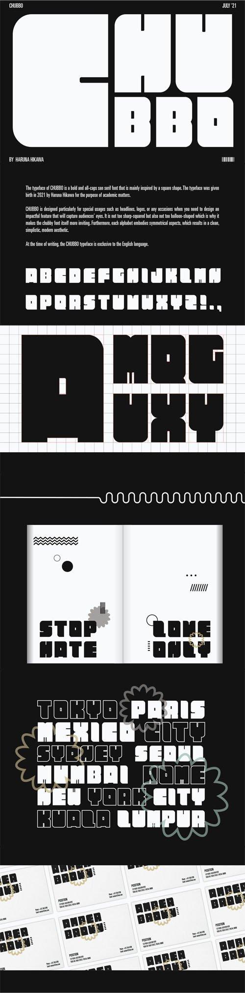 Chubbo Bold - All Caps Sans Serif Display Font