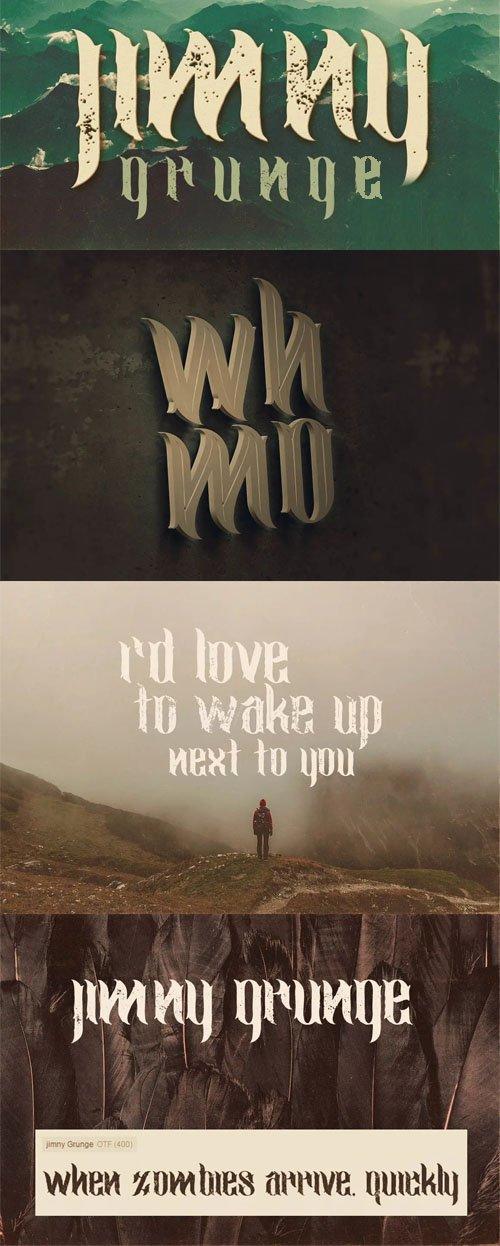 Jimny Grunge Style Font