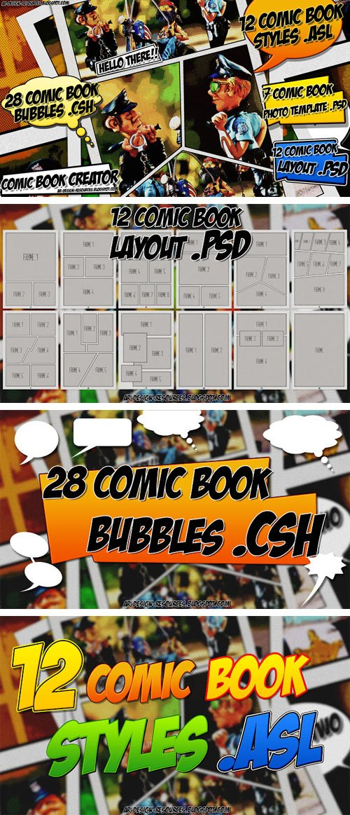 Comic Book Creator Pack for Photoshop