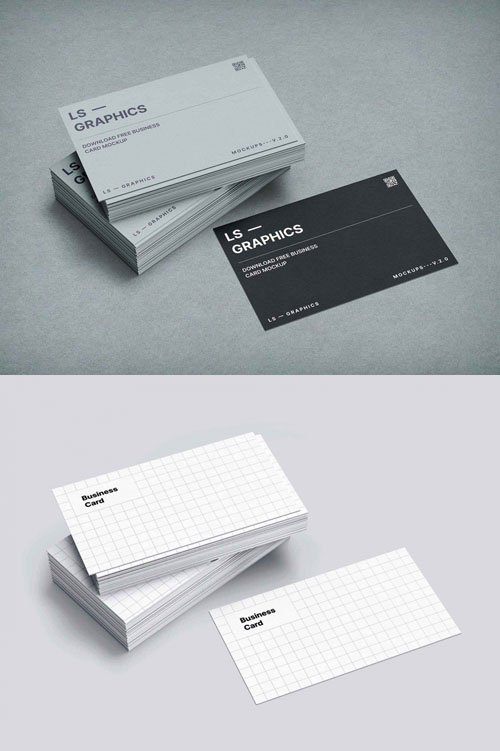 Stacked Business Cards PSD Mockups Templates