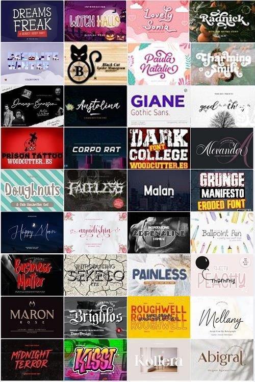 36 Premium Fonts Collection
