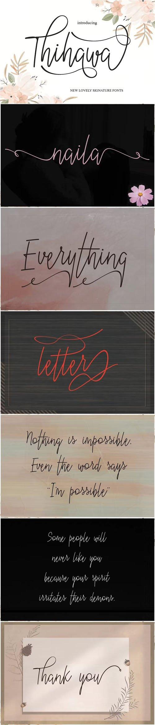 Thihawa Script - New Lovely Signature Font