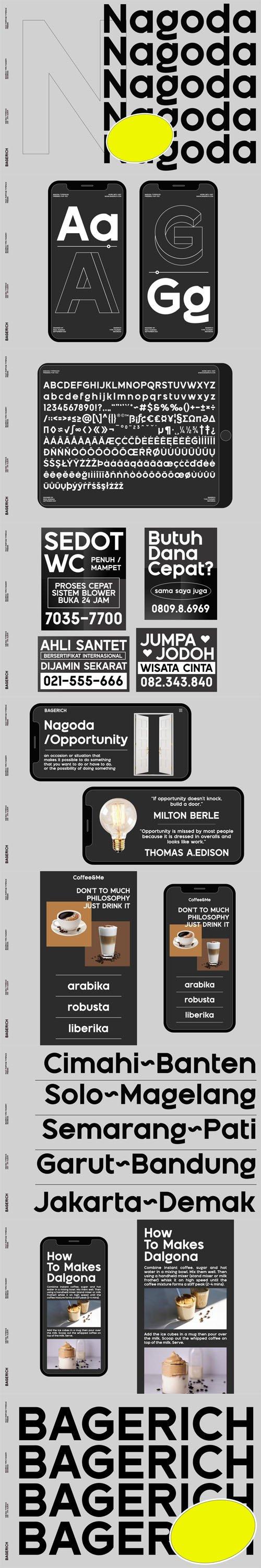 Nagoda - Modern Sans Serif Font