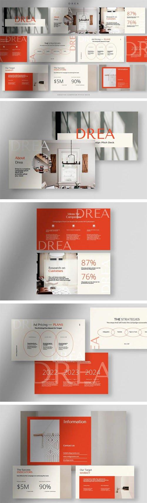 Drea - Creative Campaign Presentation Pitch Deck