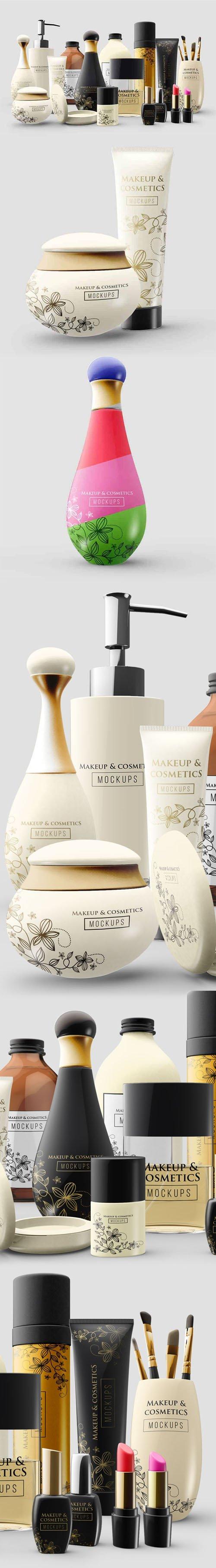 Cosmetic & Makeup Accessories PSD Mockups Templates