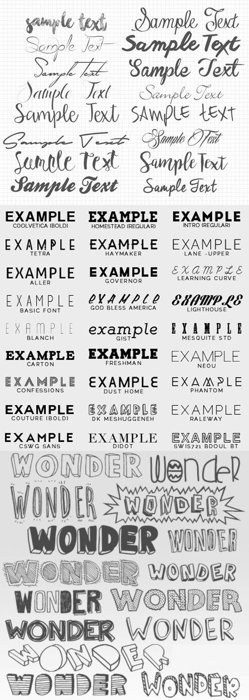 64 Fonts Pack
