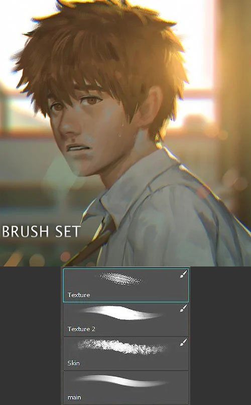 4 Painting Brushes for Photoshop