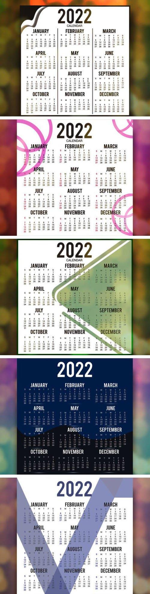 New Year Printable Calendar 2022 Templates