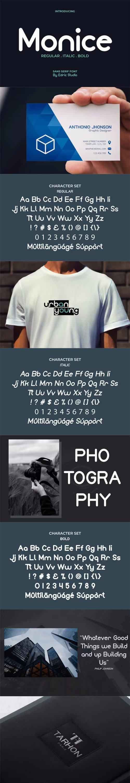 Monice - Modern Sans Serif Typeface